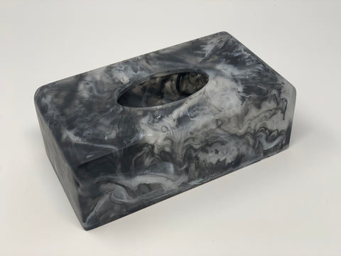 Resin Black Kleenex Holder