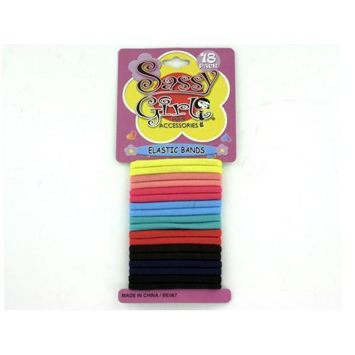 Colored Elastic Hair Bands ( Case of 12 )