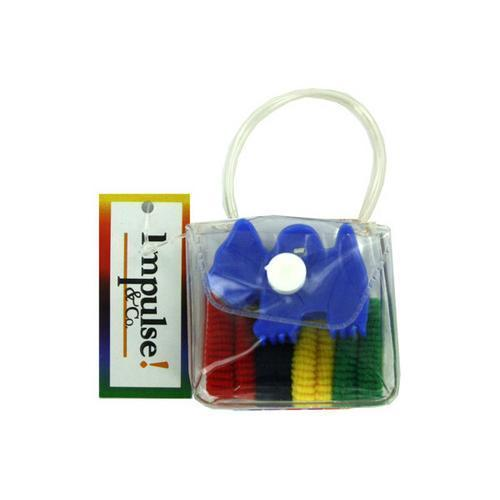 Hair accessory kit in plastic pouch ties and claw ( Case of 72 )