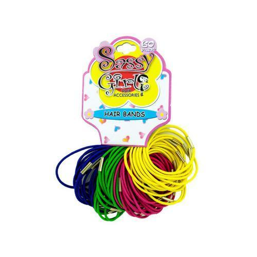 Bright elastic hair bands ( Case of 36 )