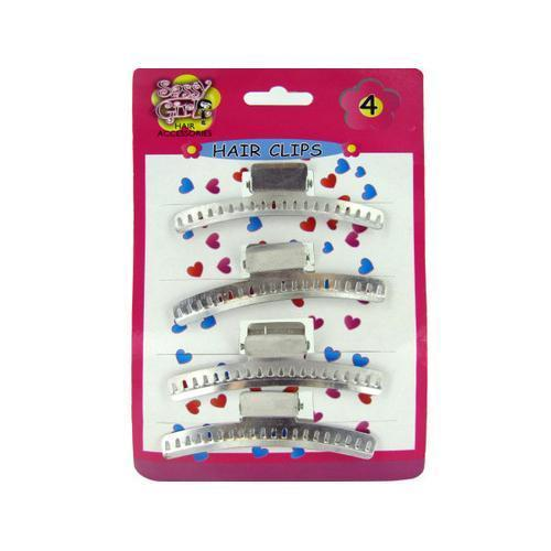 Metal Hair Clips Set ( Case of 96 )