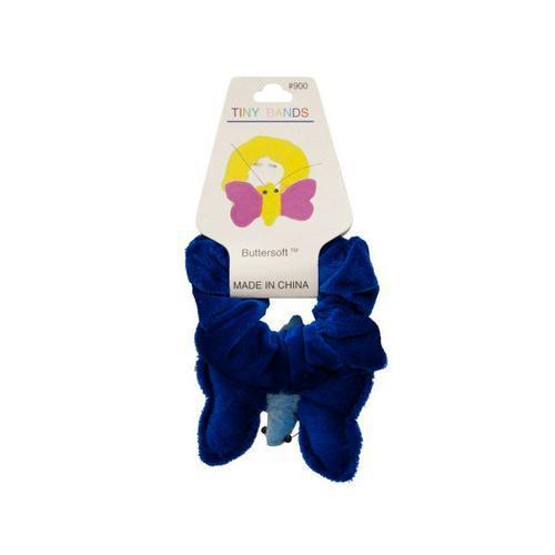 Plush Velour Butterfly Hair Twister ( Case of 72 )