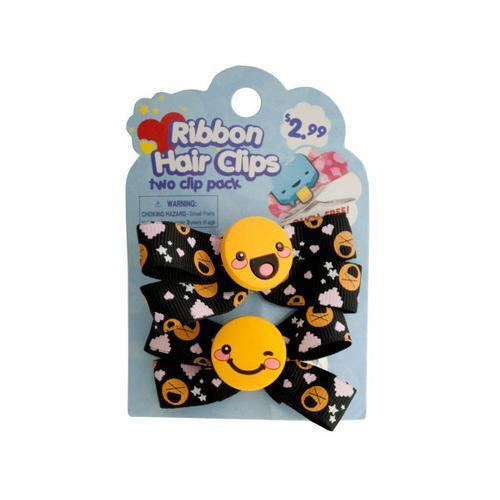 Ribbon Hair Clips ( Case of 96 )