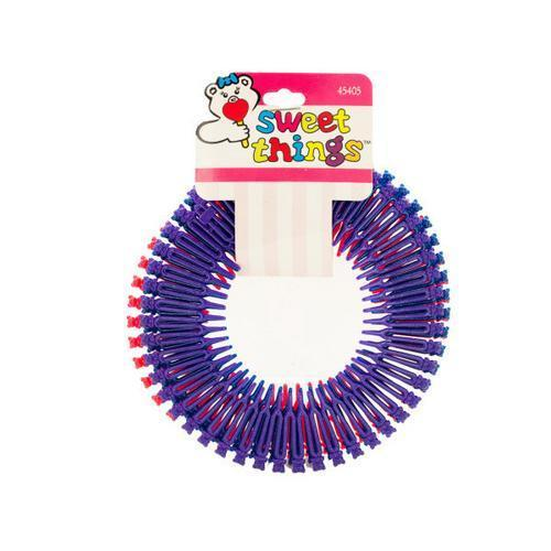 Teddy Bear Circular Flexible Hair Comb Headbands ( Case of 96 )
