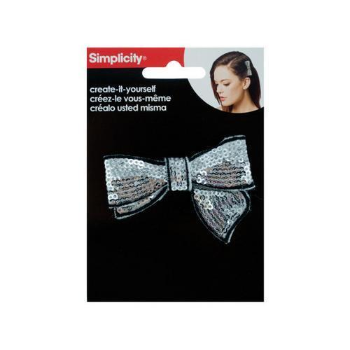 Silver Sequin Bow with Black Trim Headband Accent ( Case of 72 )