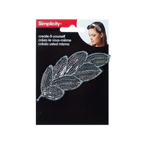 Silver Sequin Feather Headband Accent ( Case of 72 )