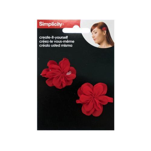 Simplicity Create it Yourself Red Fabric Flowers ( Case of 72 )