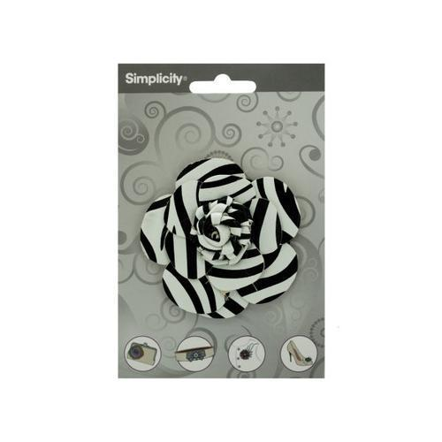 simplicity pleather zebra rose accent ( Case of 24 )