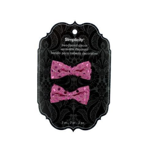 pink bow headband accent ( Case of 48 )