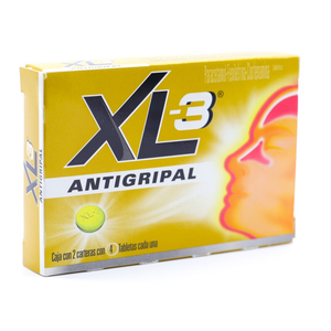 XL-3 Antigripal con 8 Tabletas