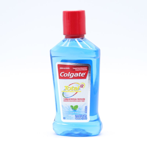 Colgate Enjuague Bucal Clean Mint con 60 mL