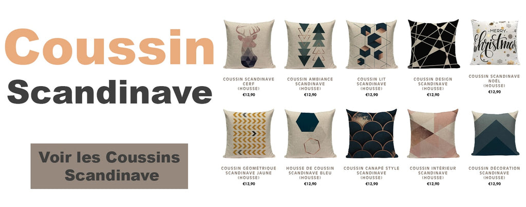 collection coussin scandinave