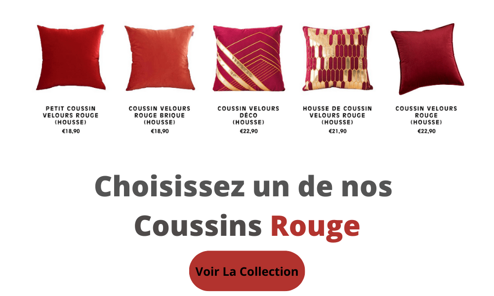 collection coussin rouge