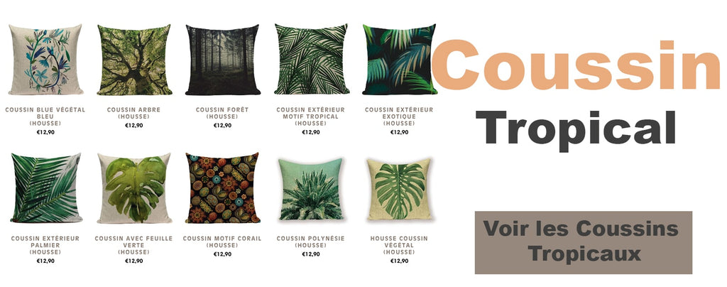 collection coussin tropical