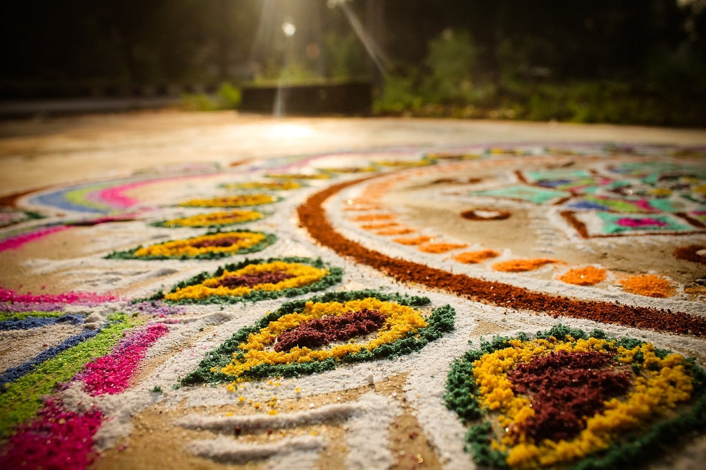 tapis couleur indienne