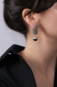 Large Onyx Earrings