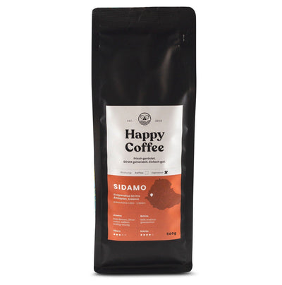 Happy Coffee SIDAMO Bio Bohnen