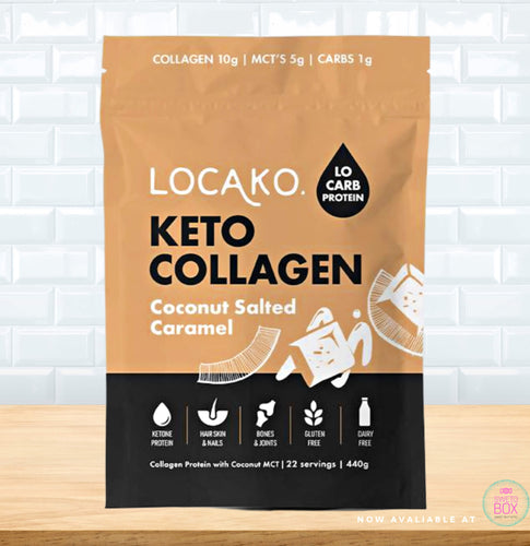 Locako Keto Collagan, Locako Collagen NZ, Locako NZ, Collagen NZ, keto coconut salted caramel collagen NZ, Keto products NZ, Low Carb NZ