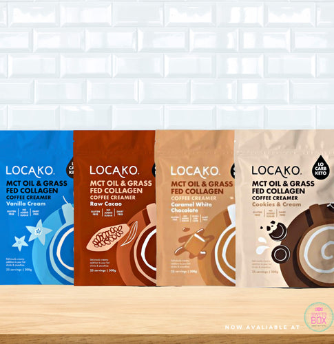 Locako Collagen Coffee Creamer NZ, Locako NZ, Locako creamer NZ, Keto coffee creamer nz, MCT powder nz, Keto products NZ, Low carb nz
