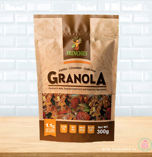 Frenchies Keto, Keto Granola NZ, Keto cereal NZ, Grain free Cereal NZ, Grain free Granola NZ, Keto products NZ, Low Carb NZ