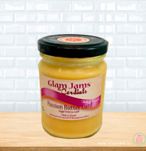 Glam Jams NZ, Passion Butter Curd NZ, Sugar free Jam, Keto Jam NZ, Keto products NZ, Low carb NZ