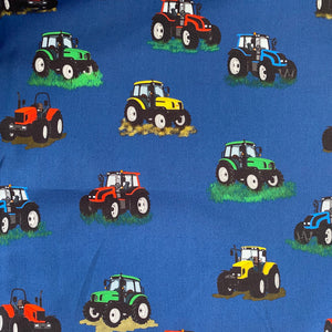 Multi Tractors Fabric - Exclusive | Whoopzee Giftz | Southland, New Zealand