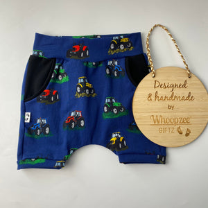 Harem Shorts- multi tractors limited edition