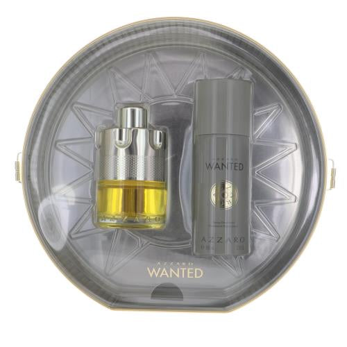 Wanted By Azzaro 2 Piece Gift Set - 3.4 Oz Eau De Toilette Spray, 5.1 Oz Spray Deodorant For Men - Gift Set
