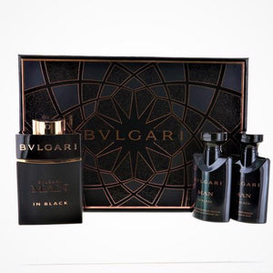 Bvlgari Man In Black By Bvlgari 3 Piece Gift Set - 2.0 Oz EDP Spray, 1.35 Oz After Shave Balm, 1.35 Oz Shower Gel For Men