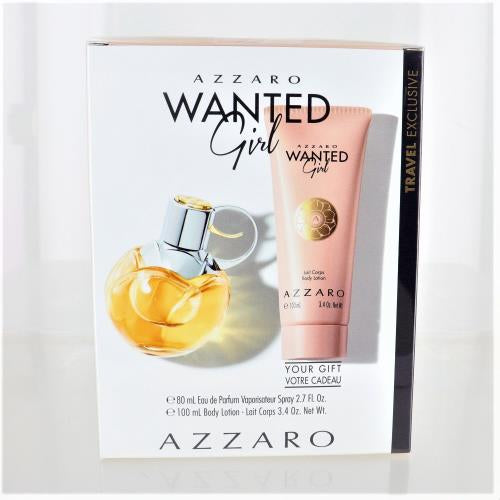 Wanted Girl By Azzaro 2 Piece Gift Set - 2.7 Oz EDP Spray,3.4 Oz Body Lotion For Women