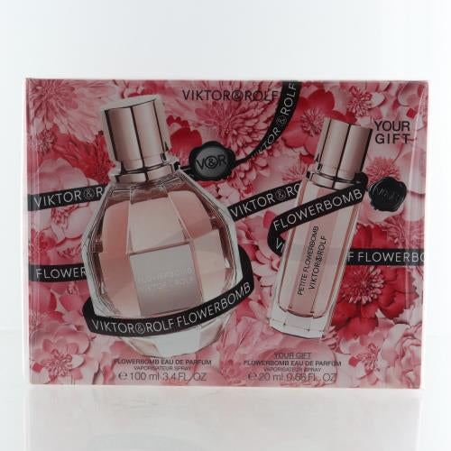 Flowerbomb By Viktor & Rolf 2 Piece Gift Set - 3.4 Oz EDP Spray, 0.68 Oz Eau De Perfume Spray For Women
