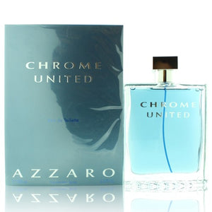 Chrome United By Azzaro 6.8 Oz EDT Spray For Men NEW in Box