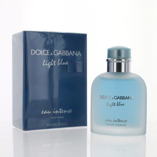 D & G Light Blue Eau Intense By Dolce & Gabbana 3.3 Oz Eau De Parfum Spray For Men - Box