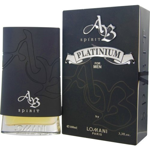 Spirit Millionaire Platinum By Lomani 3.4 Oz EDT Spray For Men NEW in Box