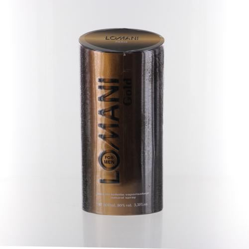 Lomani Gold By Lomani 3.3 Oz EDT Spray For Men NEW in Box