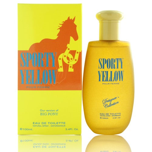 Sporty Yellow By Designer Collection 3.4 Oz EDT Spray For Women NEW in Box
