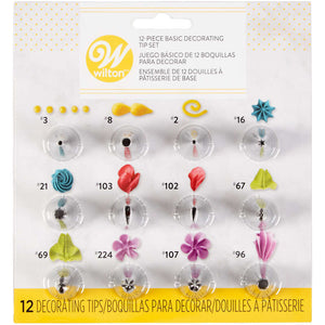 Basic Decorating Tip Set for Beginners, 12-Piece