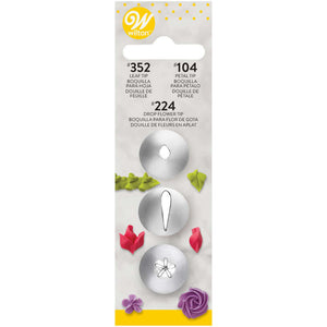 Cake Decorating Tip Set, 3-Piece