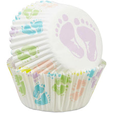 Load image into Gallery viewer, Baby Feet Cupcake Liners, 75-Count