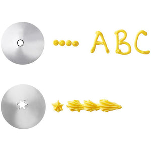 Round and Open Star Cake Decorating Tip Set, #3 & #16