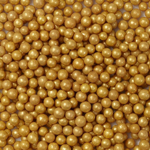 Gold Sugar Pearls, 5 oz.