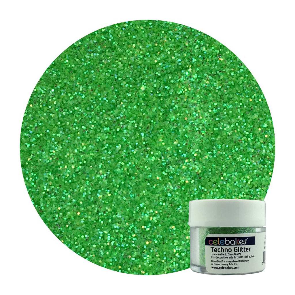 Celebakes Heat Green Techno Glitter, 5 g