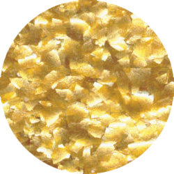 METALLIC GOLD EDIBLE GLITTER FLAKES 1 OZ