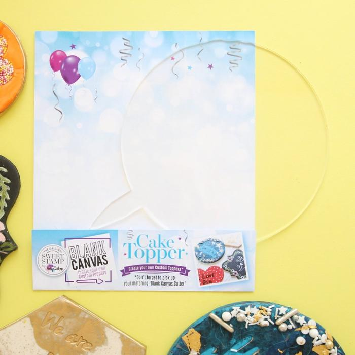 BLANK CANVAS BY SWEETSTAMP - CIRCLE BLANK TOPPER