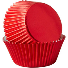 Load image into Gallery viewer, Red Foil Cupcake Liners, 24-Count