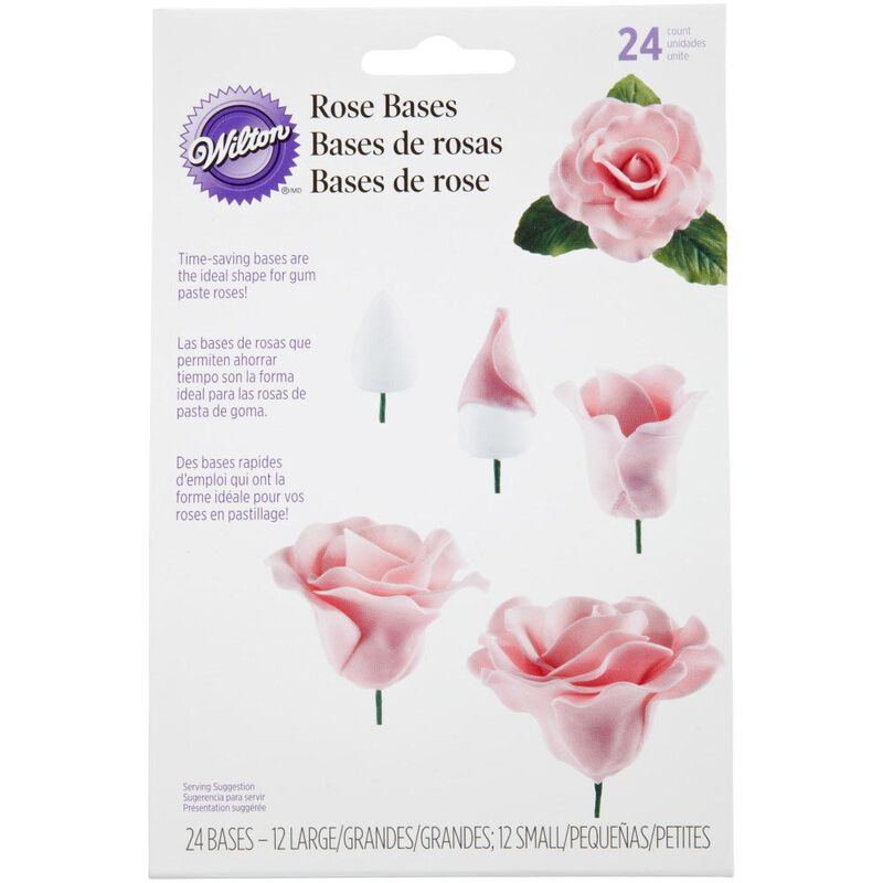Gum Paste Rose Bases, 24-Count