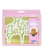 Load image into Gallery viewer, CAKE TOPPER CUTTER, HAPPY BIRTHDAY, SCRIPT