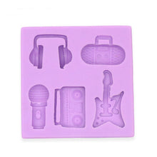 Load image into Gallery viewer, 3D Guitar- Sound - Headset- Microphone silicone mold