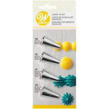 Load image into Gallery viewer, Large Decorating Tip Set, 4-Piece