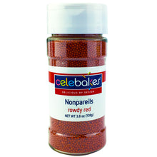 Load image into Gallery viewer, Celebakes Red Nonpareils, 3.8 oz